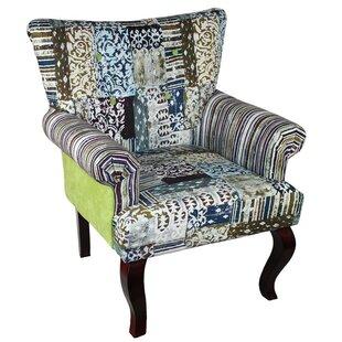 ESSENTIAL DÉCOR & BEYOND, INC Fabric Wooden Armchair