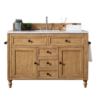 Price comparison Berlin 48 Single Driftwood Patina Bathroom Vanity Set By Laurel Foundry Modern Farmhouse