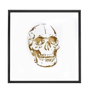 Square Abstract Skull Gold Shadow Box Art with Thin Semi Gloss Black Framed Painting Print  sc 1 st  Wayfair & Shadow Box Wall Art   Wayfair