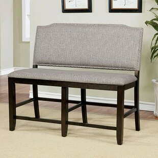Len Counter Height Upholstered Bench by C..
