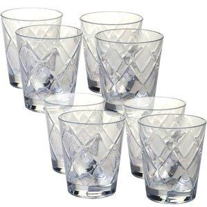 diamond acrylic 15 oz old fashioned glasses set of 8