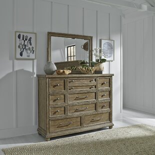 Habersham 11 Drawer Dresser with Mirror