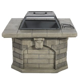 Astoria Grand Annebridge Concrete Wood Burning Fire Pit Table