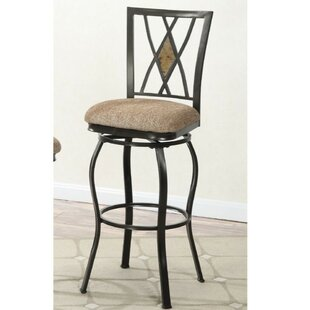 Paradis 29 Swivel Bar Stool (Set of 2) Winston Porter
