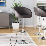 Nordin Swivel Adjustable Height Bar Stool by Orren Ellis