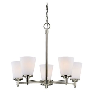 Charlton Home Acadia 5-Light Shaded Chandelier