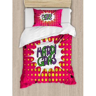 Mardi Gras Duvet Cover Set by Ambesonne