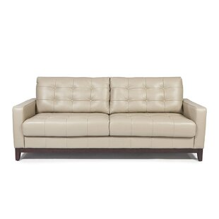 Bon Erdman Taupe Leather Sofa