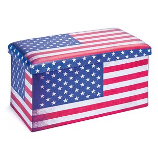 Setti Foldable Box Stars And Stripes With Lid By Symple Stuff