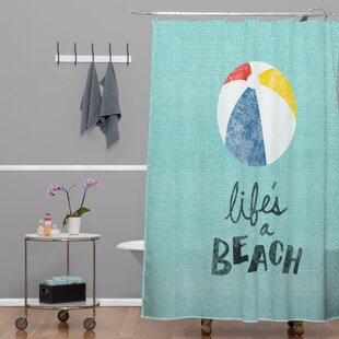 Nick Nelson Lifes A Beach Single Shower Curtain