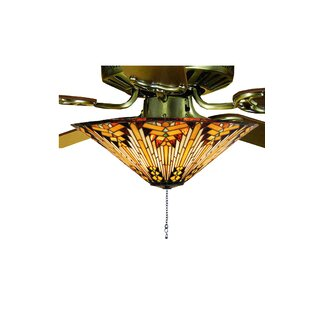 Reviews Copperfoil 3-Light Bowl Ceiling Light Fan Kit Only By Meyda Tiffany