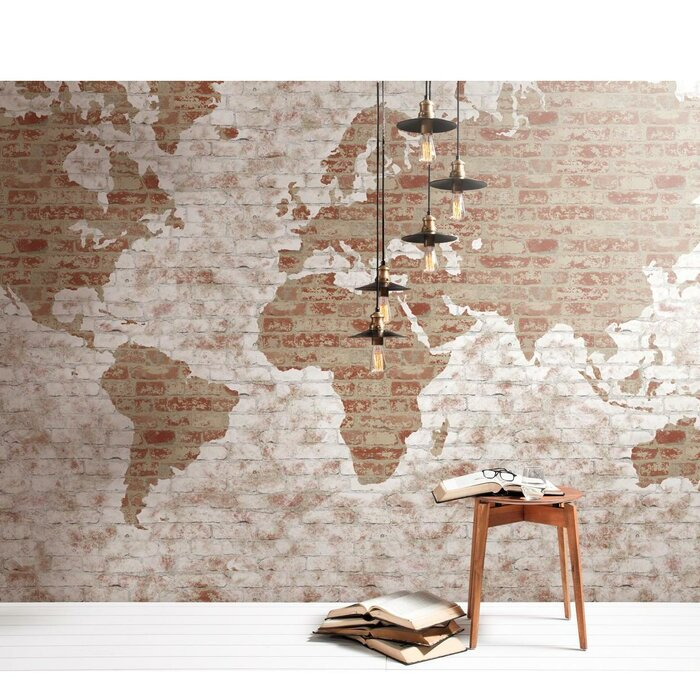 York Wallcoverings 15 L X 108 W World Map Wall Mural Reviews