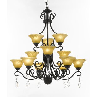 Red Barrel Studio Stephens 12-Light Shaded Chandelier