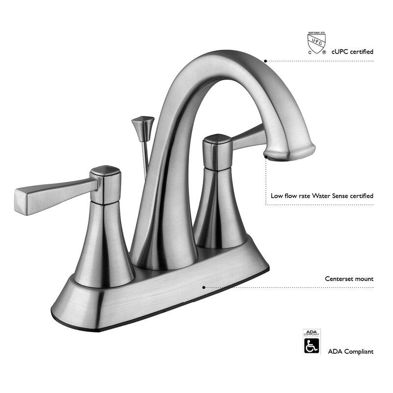 Saratoga Centerset Standard Bathroom Faucet