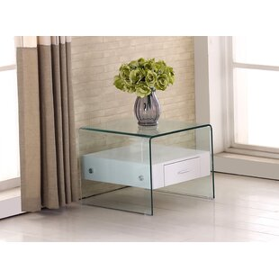 Glass Top End Table by Bes..