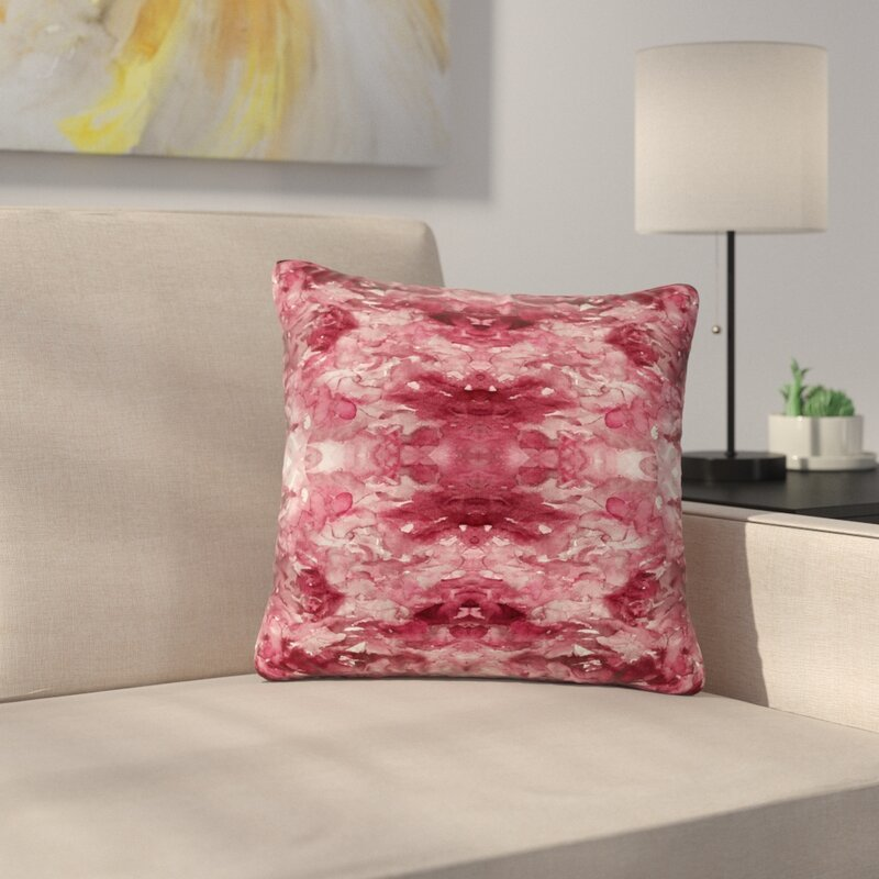 East Urban Home Ebi Emporium Tie Dye Helix Outdoor Throw Pillow