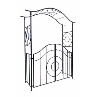 ACHLA Tuscany Iron Arbor with Gate