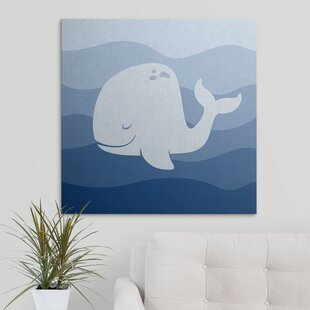 Whale Underwater Nursery Circle Kids Graphic Art Print