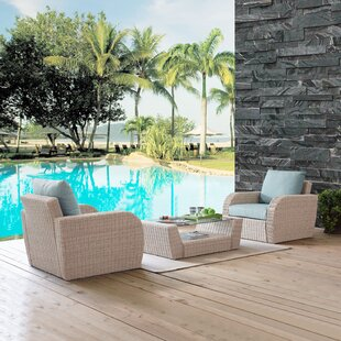Boomer 3 Piece Conversation Set with Cushions by Highland Dunes
