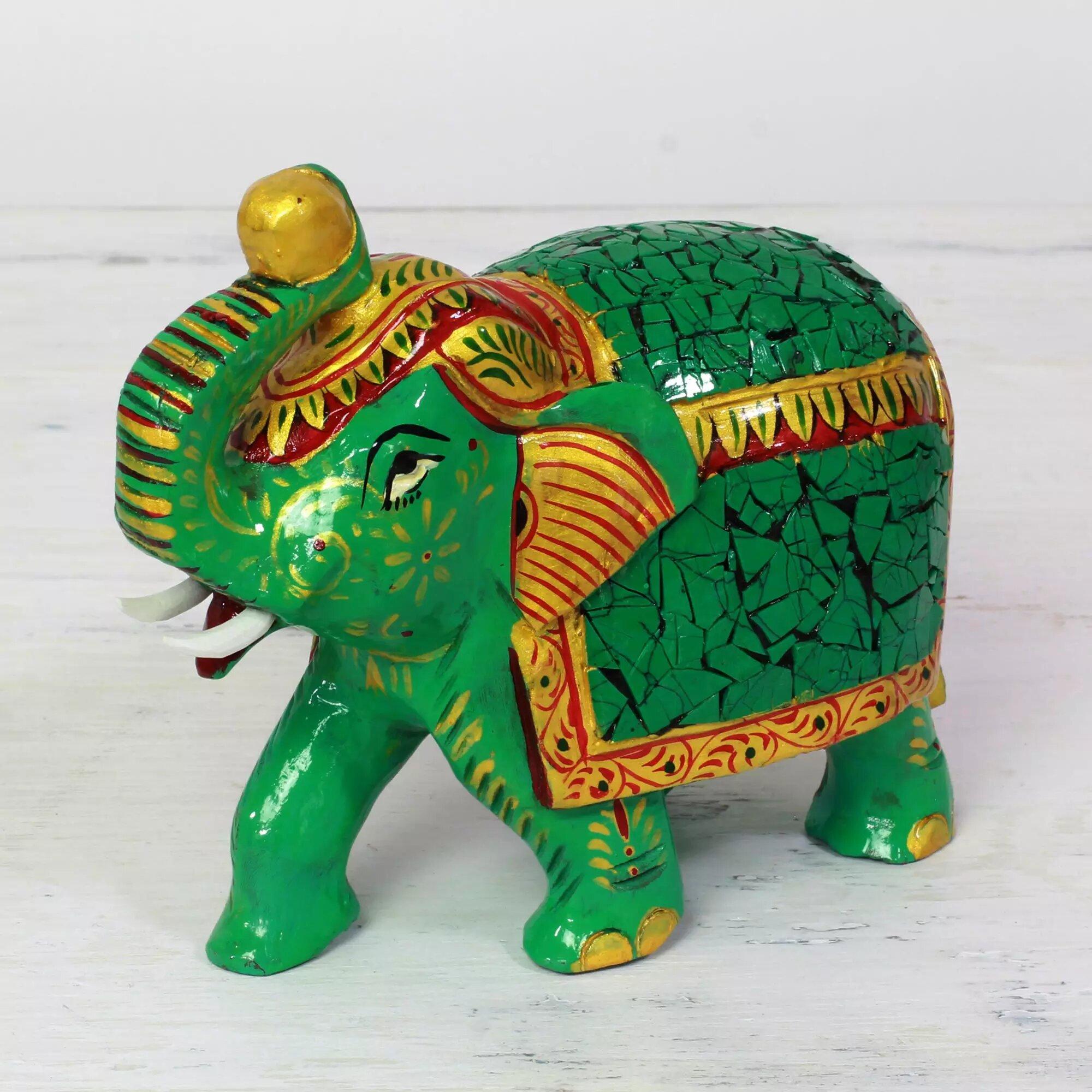 Bloomsbury Market Bontang Eucalyptus Elephant Figurine Wayfair