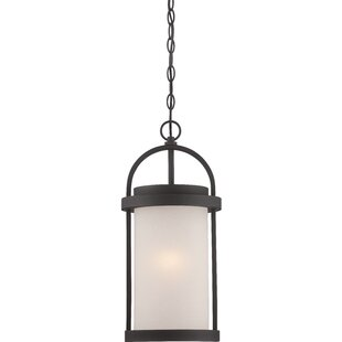 Compare prices Carrie 1-Light Outdoor Pendant By Darby Home Co