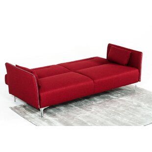 Orren Ellis Faviola Red Sofa