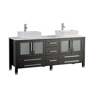 Govea Modern 71 Double Bathroom Vanity Set by Ivy Bronx