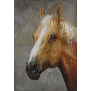 Equine Horse Graphic Art Print On Wood