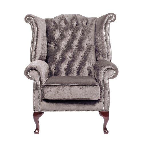 Aldo Wingback Chair Willa Arlo Interiors Colour: Silver