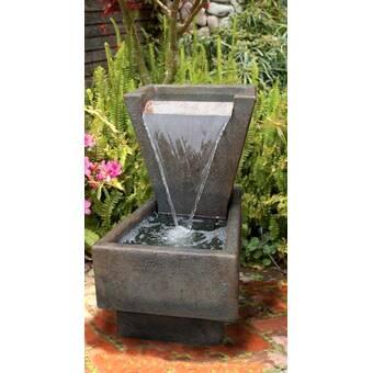 Latitude Run Aqeela Fiberglass Outdoor Fountain Wayfair