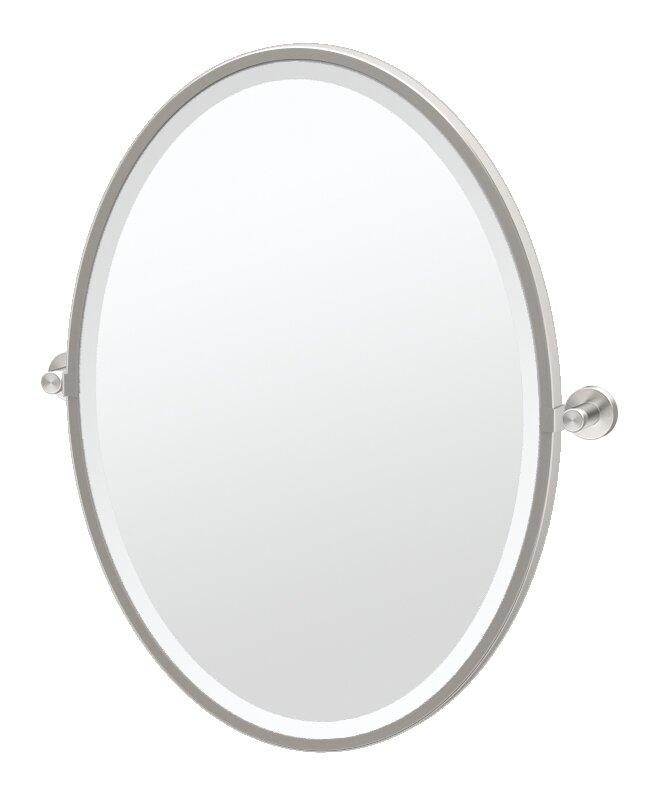 Gatco Glam Framed Oval Wall Mirror   Wayfair