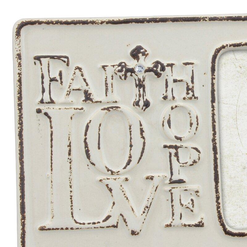 Winston Porter Kitts Worn Faith Hope And Love Picture Frame Wayfair