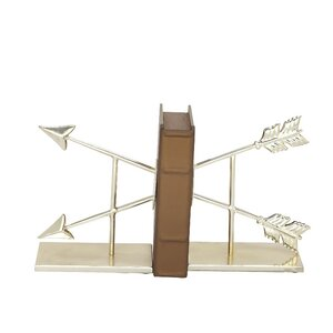 Metal Reflections Book Ends (Set of 2)