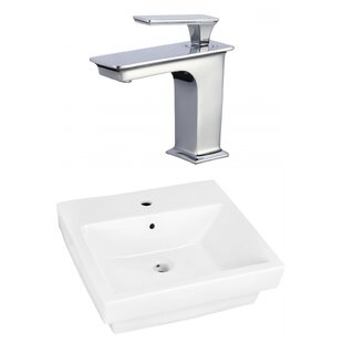 Royal Purple Bath Kitchen Ceramic Rectangular Bathroom Sink with Faucet and Overflow