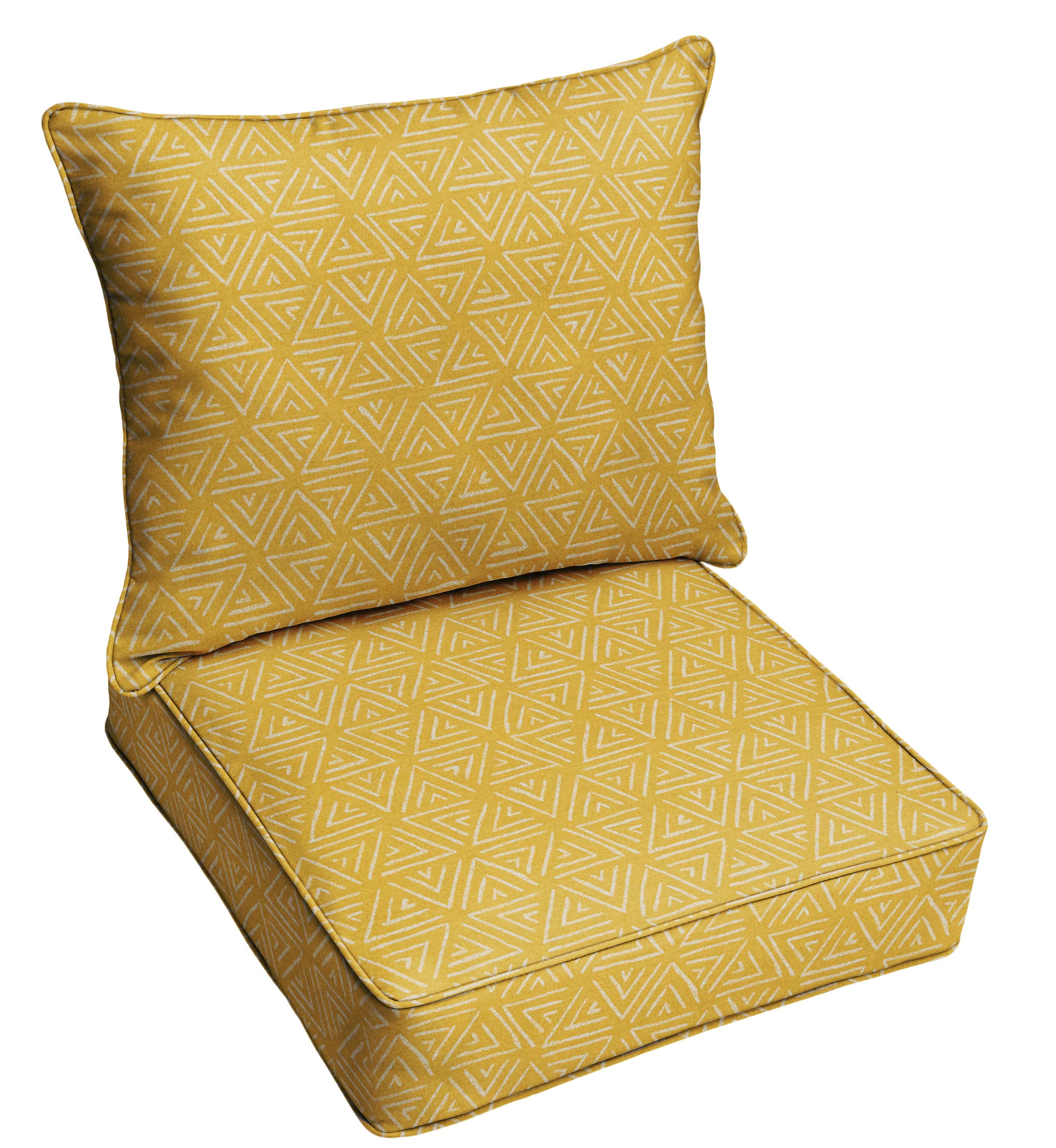 Corrigan Studio 2 Piece Triangle Corded Indoor Outdoor Dining Chair Cushion Set Wayfair