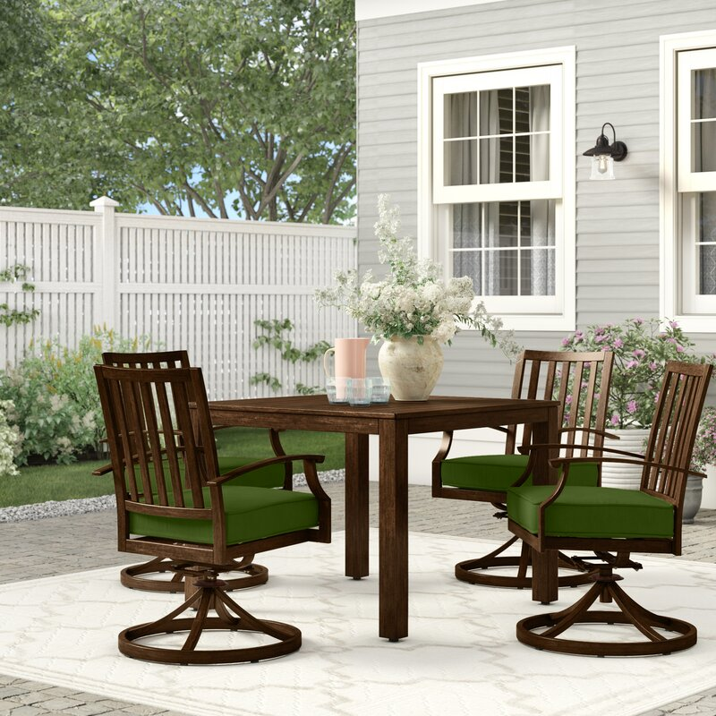 Birch Lane Higden Bridgeport 5 Piece Dining Set With Cushions Wayfair