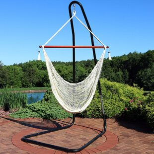 Amber Rope Chair Hammock with Stand By Freeport Park