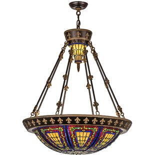 Meyda Tiffany Victorian Tiffany 6-Light Bowl Pendant