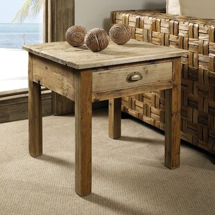 Salvaged Wood End Table by Padmas Plantation