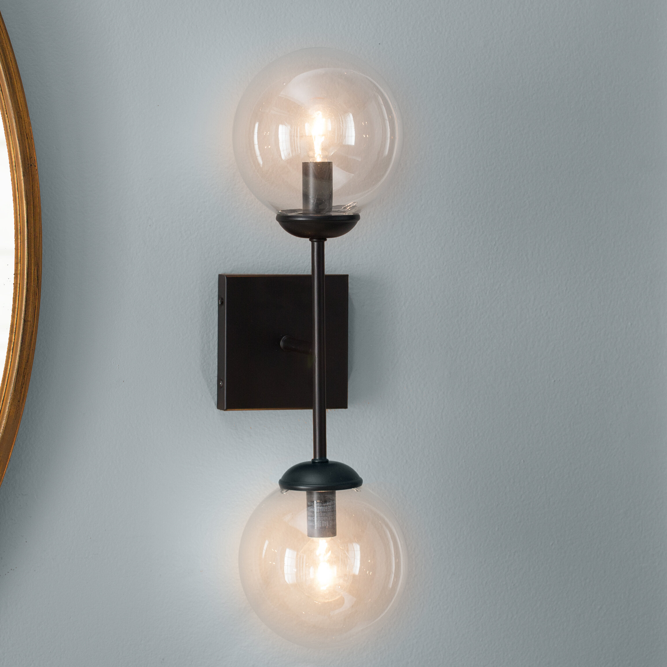 windsor nickel brushed vanity gate single light bathroom sconce