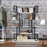 Codeah 65 H x 47 W Metal Etagere Bookcase by Latitude Run®