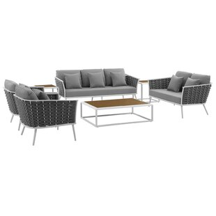 Rossville 7 Piece Sofa Seating Group with Cushions