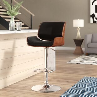 Gulfport-Biloxi Height Adjustable Swivel Bar Stool by Corrigan Studio Top Reviews