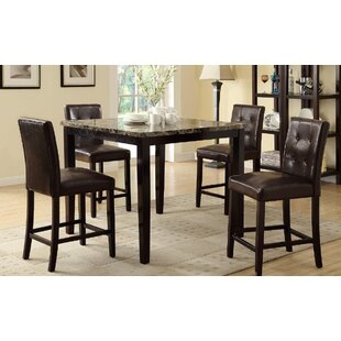 Ronald 5 Piece Counter Height Dining Set A&J Homes Studio