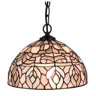 Amora Lighting Tiffany Style 1-Light Inverted Pendant