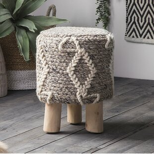 Woodmore Woolen Accent Stool by World Menagerie