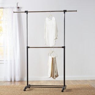covered clothes rack intermetro wayfair basics 73 clothes racks garment wardrobes youll love