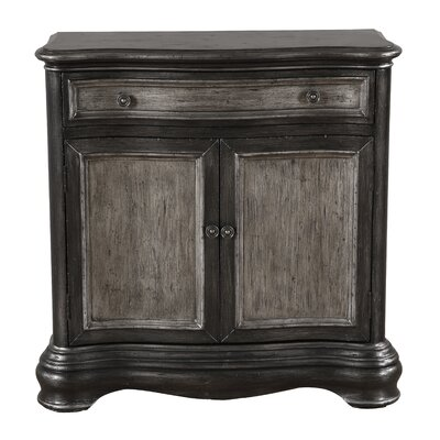 Adalia 1 Drawer Accent Chest Color: Black by Darby Home Co