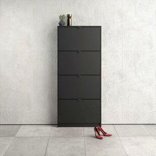 24 Pair Flip Down Shoe Storage By Ebern Designs