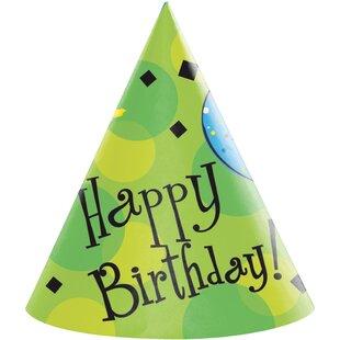 Cake Celebration Hat Paper Disposable Party Favor (Set of 24)